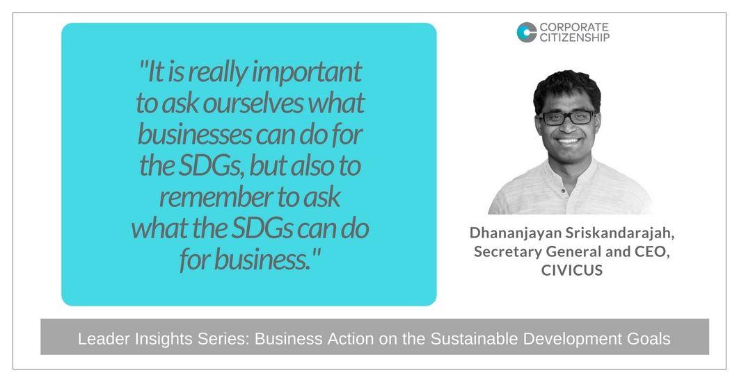 Danny Sriskandarajah Business Action on the SDGs