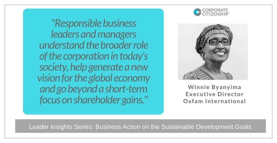 Winnie Byanyima Business Action on the SDGs