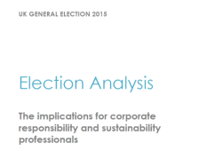 UK General Election 2015: Implications for CR and sustainability professionals